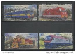 Ukraine (2010) Yv. 975/78  /  Train - Trains - Railways - Locomotives - Eisenbahn - Trams -Ships - Trains