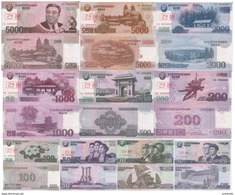 KOREA 5 - 5000 Won Set Specimen 10 Banknotes ! P 58 - 67 SPECIMEN UNC - Specimen