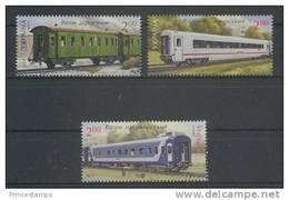 Ukraine (2012) Yv. 1086/88  /  Train - Trains - Railways - Locomotives - Eisenbahn - Trams -Ships - Trains