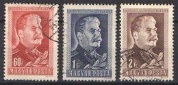 Hungary 1949. Stalin Nice Set, Used - Michel: 1066-1068 - Hungary