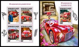 NIGER 2017 - Ferrari Cars, M/S + S/S. Official Issue - Cars