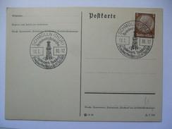 GERMANY 1938 POSTKARTE - Schmolln Reichsbund Philatelisten Sonderstempel - Germania