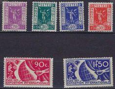 """FR YT 322 à 327  """" Exposition Internationale De Paris """" 1936 Neuf* - Unused Stamps"""