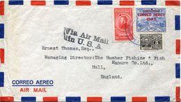 25871 Costa Rica, Cover  Circuled  1945  To  England - Costa Rica