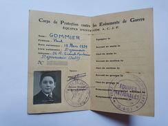 RRR - Carte Corps De Protection Contre Les Événements De Guerre, Equipe D'Entraide ACJF, Gommier Paul De Saint Germain - Documentos