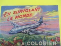 Album à Colorier/ En Survolant Le Monde/ Edition Vedette Monte Carlo/ MONACO/Avions Des Années 50/1954       JE198 - Books, Magazines, Comics