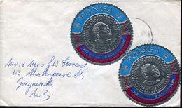 25877 Tonga,  Circuled Cover  1974 With  Adhersive Stamp, To New Zealand - Tonga (1970-...)