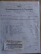 Limoges Hte Vienne Ets Noygues Manufacture De Parapluie  1966 - Straßenhandel Und Kleingewerbe