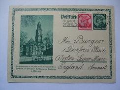 Germany 1933 Postkarte - Michel P248 - Sent To England - Germany