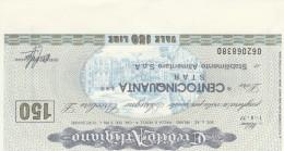 MINIASSEGNO CREDITO ARTIGIANO 150 L. STAR (A22---FDS - [10] Scheck Und Mini-Scheck