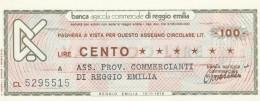 MINIASSEGNO BANCA AGRICOLA RE 100 L. ASS COMM RE (A75---FDS - [10] Assegni E Miniassegni