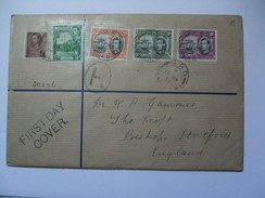GRENADA GEORGE VI REGISTERED FIRST DAY COVER DEFINITIVES Up To 6d Values - Grenada (...-1974)
