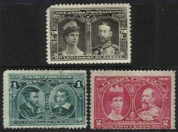 CANADA, Yv 85/87, Sc 96/98, (*) MNG, Ave, Cat. € 40,00 - Unused Stamps