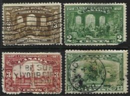 CANADA, Yv 107, 122/3, 160: Sc 135, 142/3, 194, Used, Ave, Cat. € 17,00 - Used Stamps