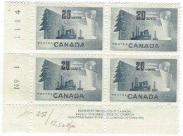 CANADA, Yv 251, Sc 316, * MLH, F/VF, Cat. € 9,00 - 1952-.... Reign Of Elizabeth II