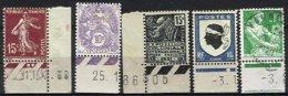 FRANCE, Coins Datés, Yv 189, Etc., */o M/U, F/VF - ....-1929
