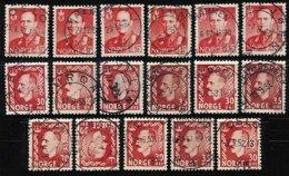 NORWAY, Yv 326A, 327, 383, Used, F/VF - Norvegia