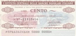 MINIASSEGNO IST.CENTR. BP ITALIANE 100 L. COLDIRETTI LONIGO (A571---FDS - [10] Assegni E Miniassegni