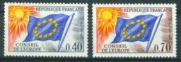 BM Frankreich Dienstmarke Europarat 1969 | MiNr 13-14 | MNH | Europafahne - Neufs