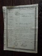 Police Générale Du Royaume 1838 / Passe Port (laisser Passer) De Dozulé 14 Au Havre La Dame Méteillière De Breteille 27 - Documenti Storici