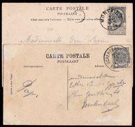 MONTAIGU T1L ( 22mm) En SCHERPENHEUVEL MONTAIGU T4R ( 28mm ) - Postmark Collection