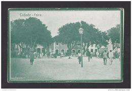 SÃO TOMÉ E PRINCIPE ST TOME E PRINCE 1910 YEARS FEIRA MARCHÉ MARKET AFRICA AFRIKA AFRIQUE & NATIVES POSTCARD - Sao Tome And Principe