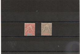 NOUVELLE CALEDONIE Année 1900/04 N°Y/T : 60/61*/**  Côte :33,00 €++ - Unused Stamps