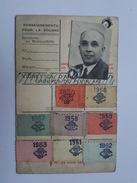 1962 Carte Du Touring Club De France Mr Paul Thibault Troyes, Vignettes - Commemorative Labels