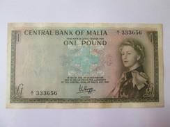 Malta 1 Pound 1967(1969) Banknote - Malta