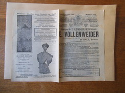 SUISSE St-GALL E. VOLLENWEIDER SUCCESSEUR DE H. SCHOCH & Cie FABRIQUE DE BRODERIES SUISSES 8 PAGES - Werbung