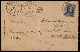 2 Verschillende Stempels ***** VELTHEM 1924 ***** - Postmark Collection