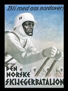 Photo Affiche De Recrutement Pour La  SS - Den Norske Skijegerbatalion - 1939-45