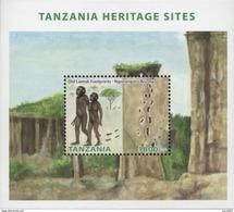 Tanzania 2014 Old Laetoli Footprints - Ngorongoro Prehistory MS Mint - Tanzania (1964-...)