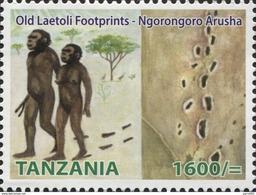 Tanzania 2014 Old Laetoli Footprints - Ngorongoro Prehistory Mint - Tanzania (1964-...)