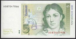 Germany Fed. Rep. 5 Marka 1991 P37 UNC - [ 7] 1949-… : RFA - Rep. Fed. De Alemania