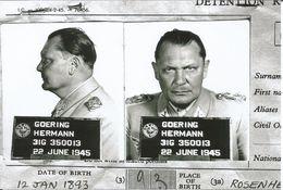 Militaria WW2 -  Fiche Signalétique De Goering Au Tribunal De Nuremberg En 1945 - - 1939-45