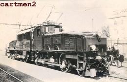 CARTE PHOTO : TRAIN LOCOMOTIVE ZUG BAHNHOF CHEMIN DE FER LOKOMOTIVE STATION ESTACION TRENO LOCOMOTORA - Stations With Trains