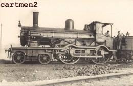 CARTE PHOTO : TRAIN LOCOMOTIVE ZUG BAHNHOF CHEMIN DE FER LOKOMOTIVE STATION ESTACION TRENO LOCOMOTORA - Trains