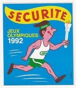 Autocollant Stickers   Sécurité Jeux Olympiques 1992 - Autocollants