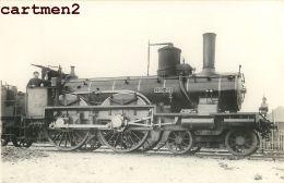 CARTE PHOTO : TRAIN LOCOMOTIVE ZUG BAHNHOF CHEMINS DE FER LOKOMOTIVE STATION ESTACION TRENO LOCOMOTORA - Trains