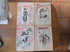 LOT DE 4 REVUES MADAME DE 1918:N° 5,6,7 ET 8 FEVRIER,MARS,AVRIL,AVRIL - Fashion
