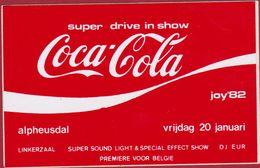 Sticker Autocollant Aufkleber JOY 82 Coca Cola Super Drive In Show Alpheusdal Berchem Antwerpen DJ EUR 20 Januari 1982 - Autocollants