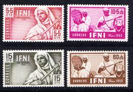 IFNI 1953. PRO INFANCIA EDIFIL Nº 95/98.NUEVOS  CON  CHARNELA CECI 2 Nº 59 - Ifni