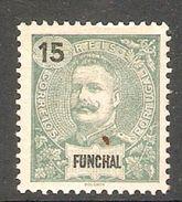 005638 Funchal 1899 Carlos 15 Reis MH - Funchal
