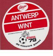 Sticker Autocollant Aufkleber RAFC ANTWERP Voetbal Football Internationaal Voetbaltornooi 1979 De Nieuwe Gazet Bass Bier - Autocollants