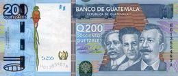 * GUATEMALA 200 QUETZALES 2009 P-120a UNC [GT120a] - Guatemala
