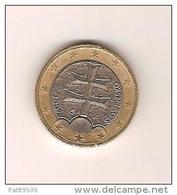 SLOVAQUIE 2009 / 1 Pièce De 1 EURO De Circulation / Bon Etat /scan Non Contractuel 2 Ex. - Slowakei