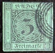 LOTE 1349  ///  (C175) YT 6 Oblitéré Cercles Concentriques , Grandes Marges , Filets Non Touchés , Amainci . COTE: 9,50€ - Baden