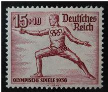 LOTE 1349  ///  (C150)  Reich (1936) YT Nº: 570  Neuf * Avec Charn , Sans Défaut , Escrime   //   CATALOG/COTE: 8,50€ - Alemania