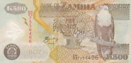ZAMBIA 500 KWACHA - EF (BA46 - Sambia